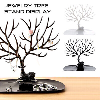 Jewelry Deer Tree Stand Display Show Rack Necklace Ring Earring Holder Organizer