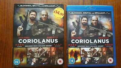 Coriolanus (Blu-ray, 2012) like new with sleeve