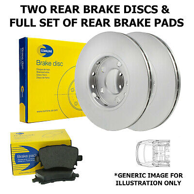 Rear Axle Brake Discs And Pads Fits Vw Multivan Transporter 294Mm
