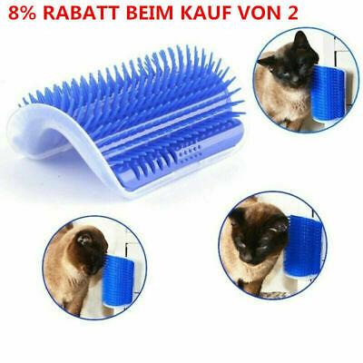 Pet Cat Self Groomer Brush Wall Corner Grooming Massage With Comb Catnip-Su M9S9