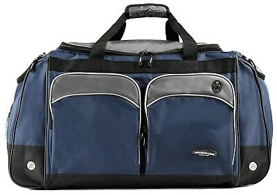 "Travelers Club 28"" Adventure Series Duffel Bag Navy And Gray"