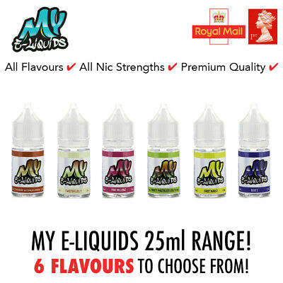 25ml E-Liquid High VG Vape Juice | My E-Liquids 0mg Short Fill Cheap Vaping