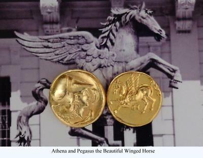 Athena and Pegasus Greek Coin Percy Jackson Teen Gift Annabeth's Mother (PJ2-G)