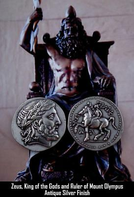 Zeus, King of the Gods, Greek Coin, Percy Jackson Teen Gift, Percy'S Uncle 86-S