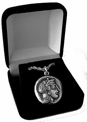 Percy Jackson Necklace, Annabetth'S Mother ATHENA and Owl Pend/Chain 12-S