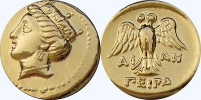 Tyche Goddess of Luck and Fortune Greek Coins greek Mythology (6-G)
