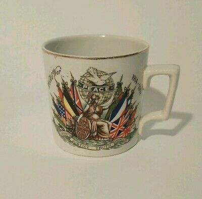 PEACE 1919 WWI mug presented by West Stanley Peace Celebration Committee
