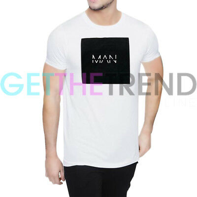 Mens Tshirt Mens Printed Oversized T-Shirt Ex-Store Clearance White  Cheap