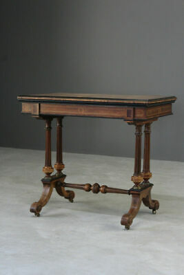 Fine Quality Antique Victorian Card Games Side Occasional Console Bedroom Table
