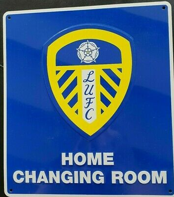 New Official Leeds United F.C. Home Changing Room metal sign