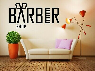 Wall Sticker Barber Shop Logo Sign Hair Salon Beauty Mural Decal Decor ZX827