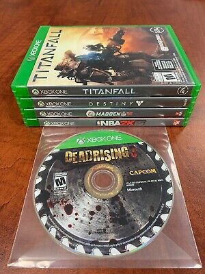 Xbox One 5 Game Lot Used In Great Shape Dead Rising 3 Titanfall Destiny Madden
