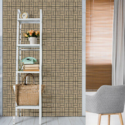 Home Decor 3D Brick Stone Rustic Effect Self-adhesive Wall Sticker Vintage CHW