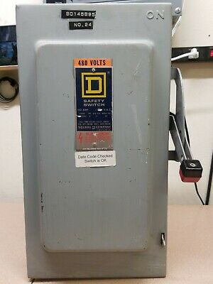 100 Amp Disconnect >> Square D H223n 100 Amp 240 Volt 1 Phase Fusible Indoor Disconnect