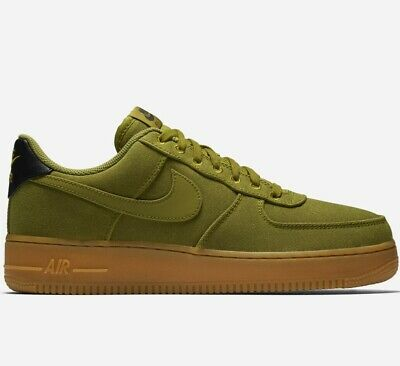 🔥 2019 NIKE AIR FORCE 1 07 LV8 STYLE CANVAS ® ( Men Sizes UK: 7 9 13 ) Green