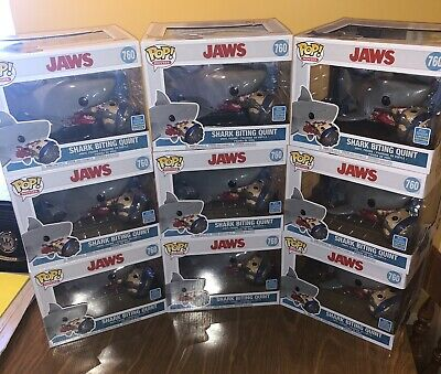 Funko Pop! Jaws - Shark Biting Quint #760 SDCC 2019 IN HAND READY TO SHIP