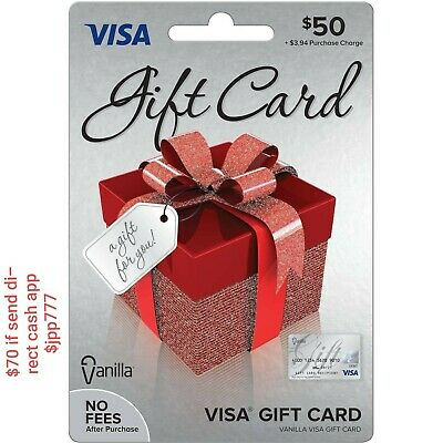 $50 GIFT CARD ACTIVATED No Fees After Purchase Non-Reloadable