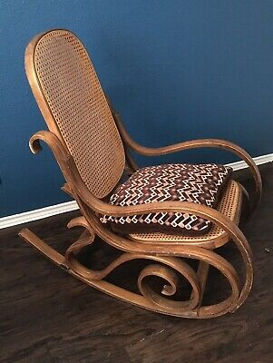 Vintage Antique Hand Crafted Bentwood Rocker Rocking Chair