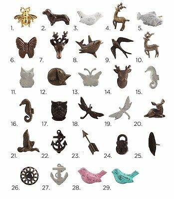 Antique Iron Animal Cabinet Knobs | Metal Cupboard Door Handles, Drawer Pulls