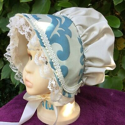 Girls VICTORIAN CREAM BONNET Various Style Oliver Book day REGENCY Christmas HAT