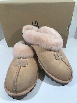 8373cccbb85 UGG AUSTRALIA COQUETTE Women's Size 12 Amber Pink Suede Clog Slippers  X21-279