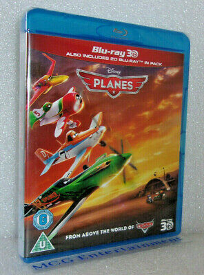 Planes 3D (2-Disc 3D+2D Blu-ray, 2013) Disney, UK Release - New/Sealed
