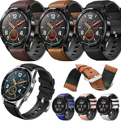 22mm Leather+Silicone Watch Band Strap For Huawei Honor Watch Magic/2 Classic/GT