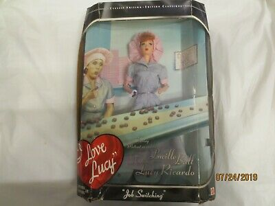 Classic edition Barbie I Love Lucy job switching episode 39 1988 Mattel