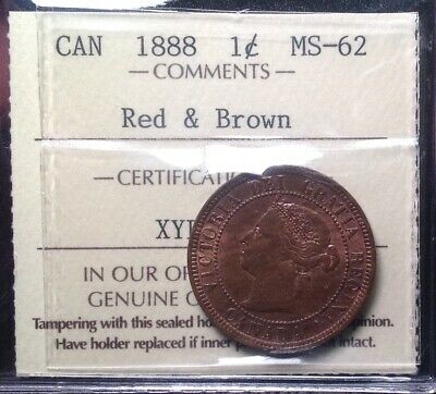 Ms62 1888 Large Cent Iccs Graded Ms62