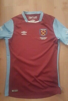Umbro 2016/17 West Ham United Junior Kids Home Kit Football shirt top Hammers LB