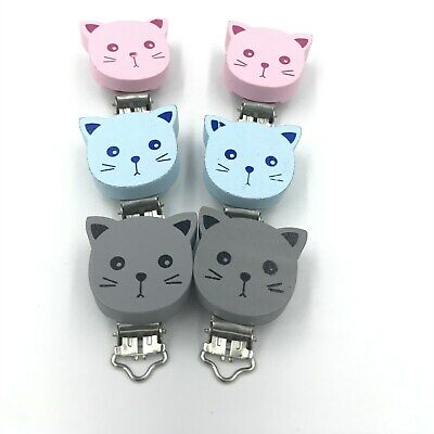Baby Pacifier Holder Clip Wood Teether Accessories Soother Clasps Holders
