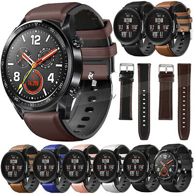 Leather&Silicone Band Strap For Samsung Gear S3 Frontier /Classic /Galaxy Watch