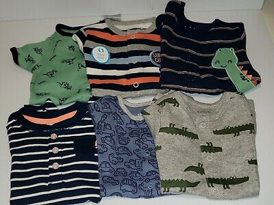 NWT Carter Baby Boy 3 Month Rompers LOT