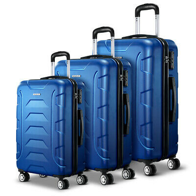 3-PCS Hard Shell Luggage Lightweight Carry On Bag Travel Suitcase Retractable