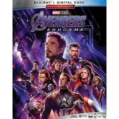 Authentic Marvel Avengers Endgame End Game Blu-ray with slip cover -NO Digital