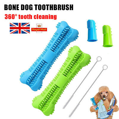 6Pcs Set Pet Dog Bone-shape Toothbrush Brushing Chew Toy Stick Teeth Cleaning UK