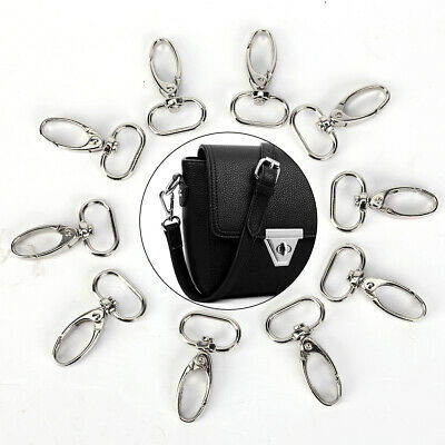 10pcs Lobster Claw Clasps Swivel Trigger Clips Snap Hook Bag Clasps Silver