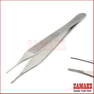 Adson Tissue Tweezer Cotton Dressing Surgical Instruments Plier Clamp Surgery