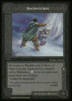 MIDDLE EARTH BLUE BORDER PREMIER RARE CARD SNOWSTORM