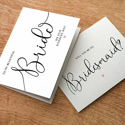 Will you be my Bridesmaid? Personalised Handmade Wedding Request Card Invite