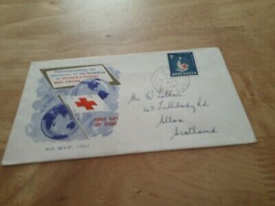 AUSTRALIA TO UK 1963 RED CROSS COVER STAMPS £2.99 POST FREE WORLDWIDE bx4