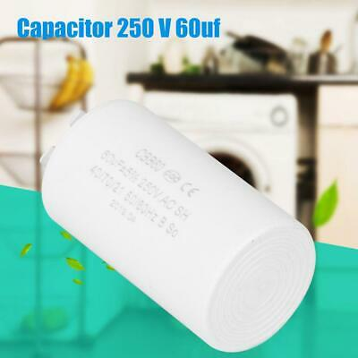CBB60 Run Capacitor Plastic Cylinder Shaped AC 250V 60uF 50/60HZ for Motor Pump