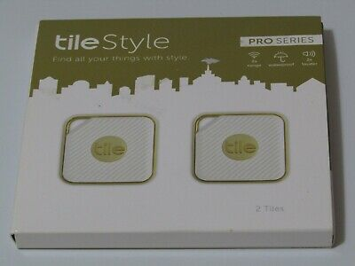 Tile Style Pro Series - Key Finder Phone Finder 1-pack With 2 Tile Style (Gold)