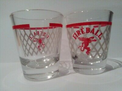 Lot of 10 Fireball Cinnamon Whisky Shot Glasses basketball promo limited edition