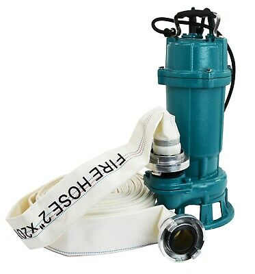 IBO FURY550 Submersible Sewage Dirty Water Septic Sump Pump + grinder + 20m hose