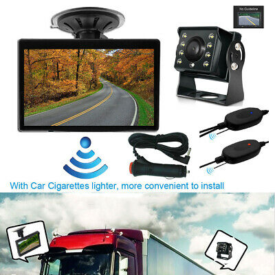 "WIRELESS 5"" MONITOR REVERSING CAMERA REAR VIEW KIT 12V 24V TRUCK,CARAVAN, Boat"