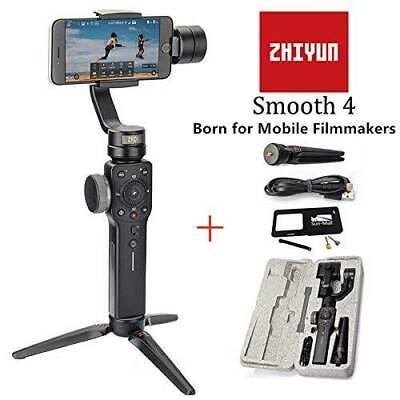 Zhiyun Smooth 4 Handheld 3-Axis Gimbal Stabilizer for Smartphone + Gopro Adapter