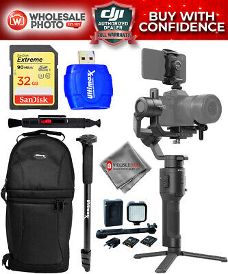 DJI Ronin-SC 3-Axis Gimbal Stabilizer Action Bundle with 32GB Sling Bag and More