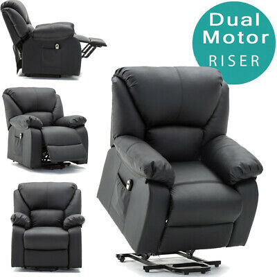 Electric Power Lift Rise Chair Recliner Armchair Leather Lounge Seat Furniture