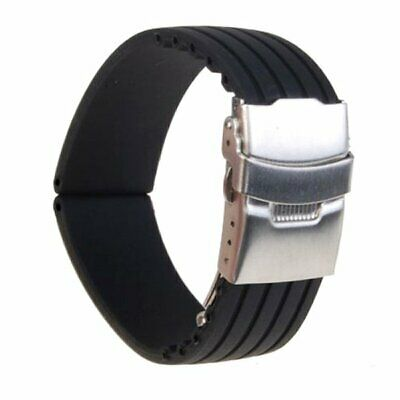 Summer Men's Silicone Rubber Watch Strap Band Waterproof Resin 20 22 MM Tread